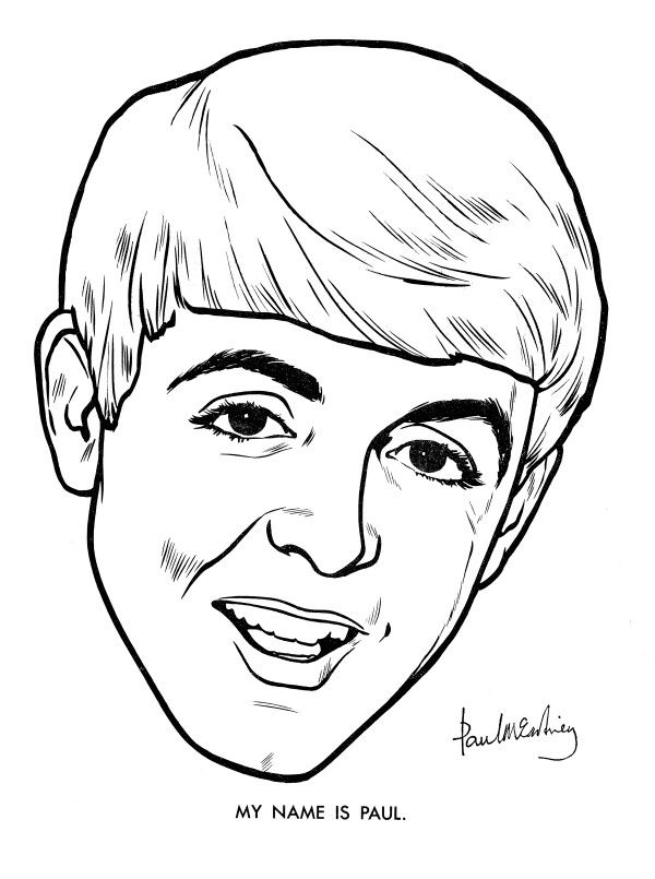 best beatles coloring book images on pinterest