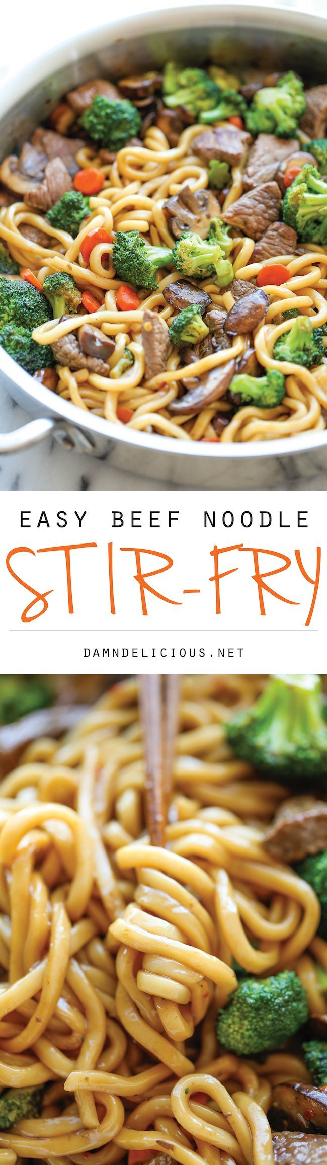 Beef Noodle Stir Fry – The easiest stir fry ever! And you can add in your favorite veggies, making this to be the perfect