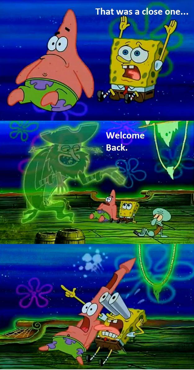 back !! Spongebob Pinterest