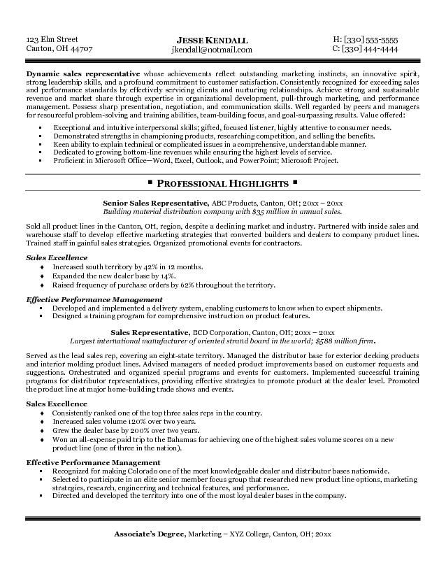 1000 ideas about sales resume on pinterest resume examples