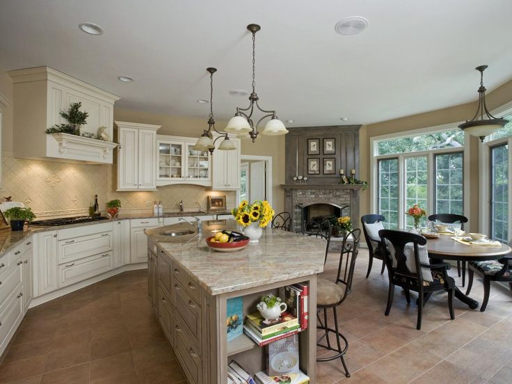 This European Kitchen Is Serene And Spacious With Its Open