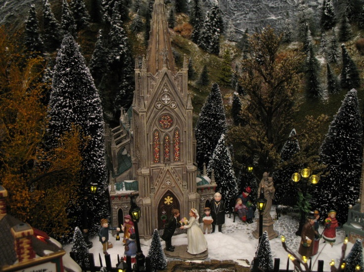 1000 Images About Christmas VILLAGE Display Ideas On