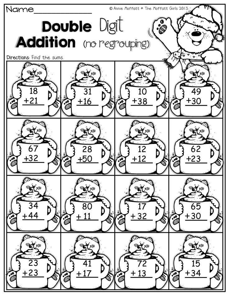 Double Digit Addition with no regrouping! 1st Grade