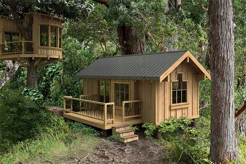 If you're looking for a small modular home, here's an idea – GreenPods. They are built for energy efficiency, indoor air