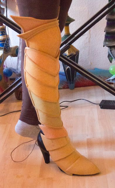 How to make armor boots among other things for cosplay.  Claire and Nicole are g