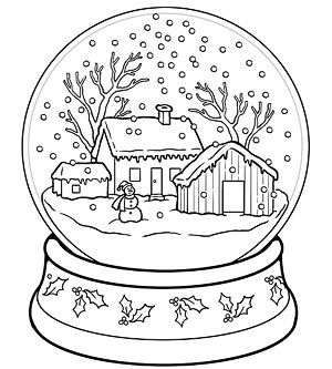 snow globes coloring pages and coloring on pinterest