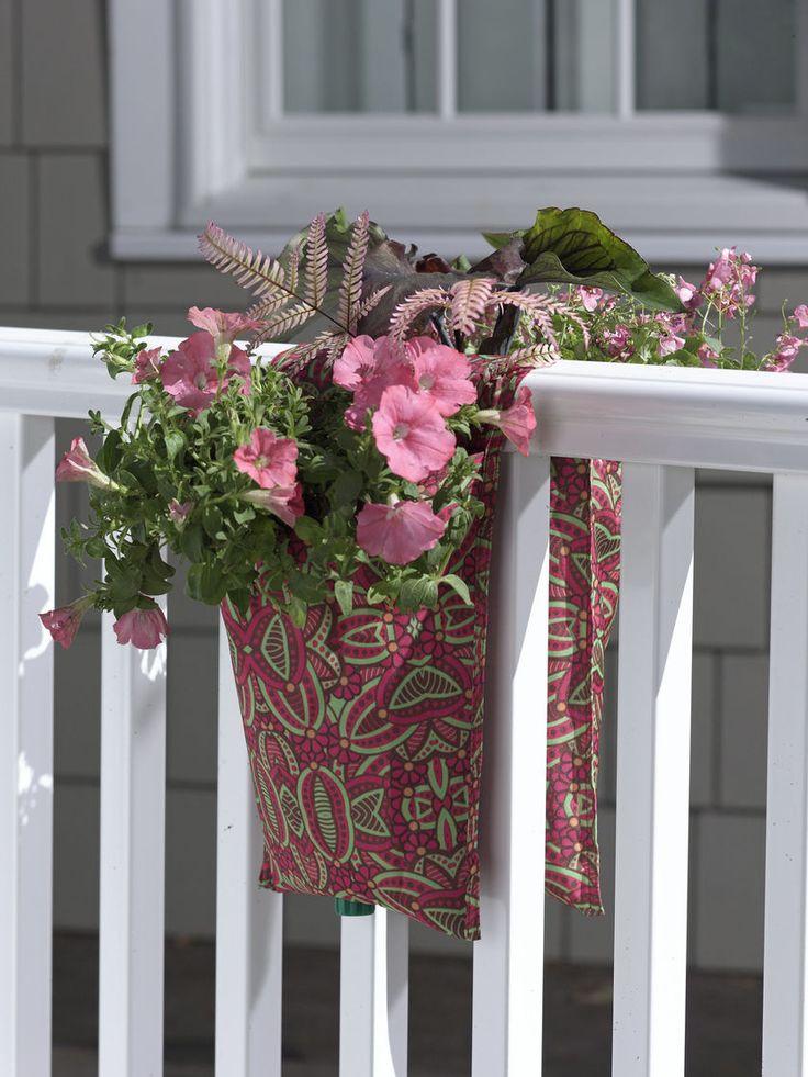 PatioArt Railing Pouch Planter Diy garden Pinterest