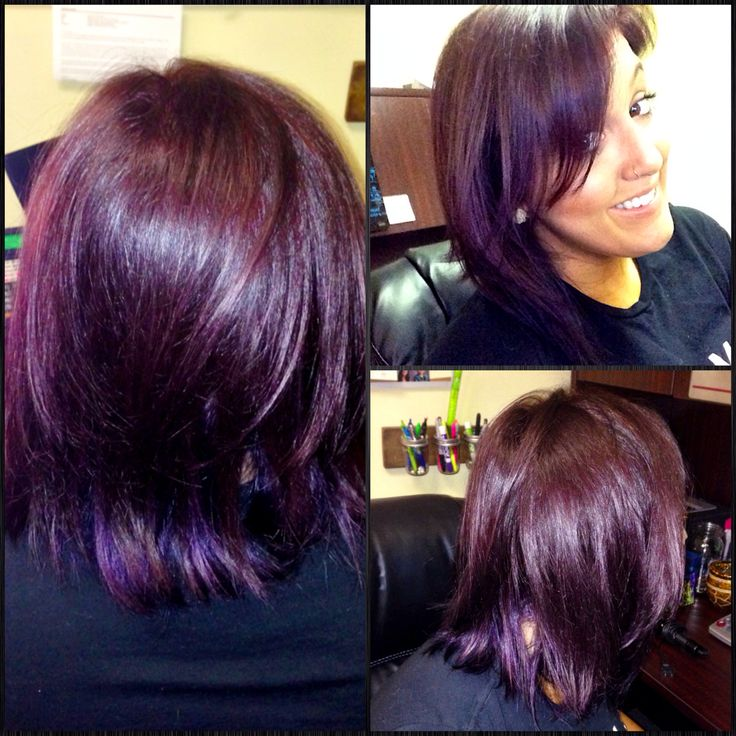 My New Plum Hair I Used Matrix Color Sync 5v With Some