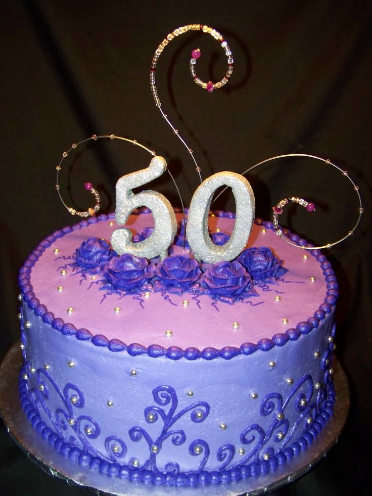 50th birthday cakes Purple and Bling 50th Birthday Cake