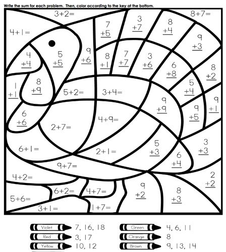 math coloring thanksgiving activities coloringpages thanksgiving