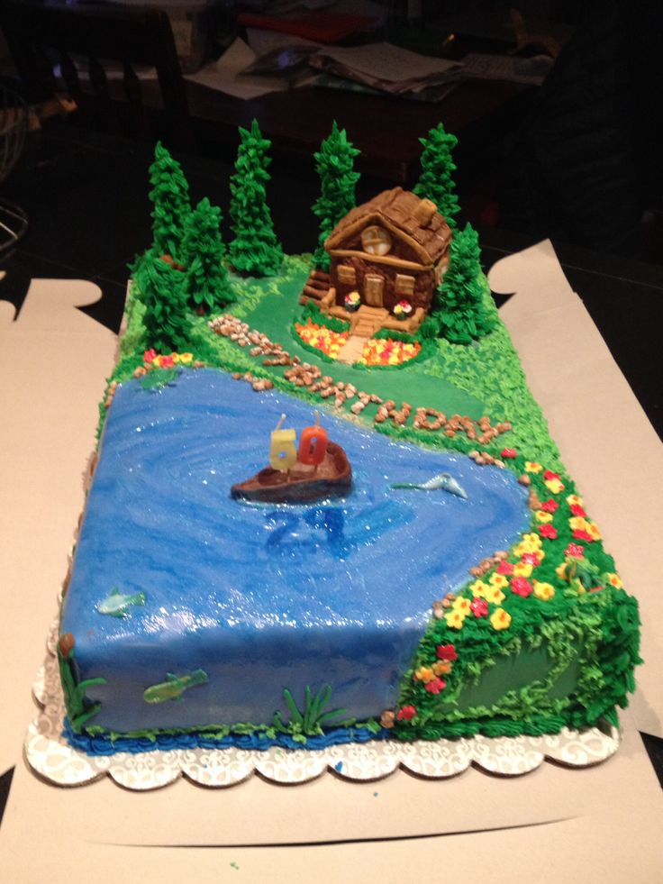 Cabin On The Lake Cake By Renee Brown Cakes Pinterest