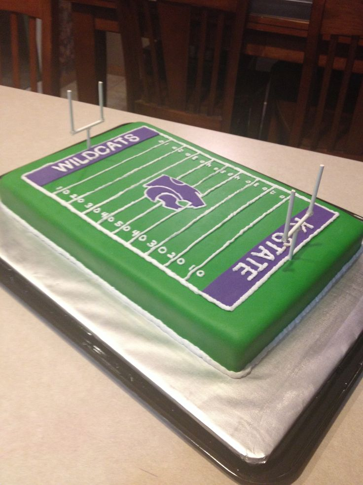 K State Football Field Cake Go Purple K State