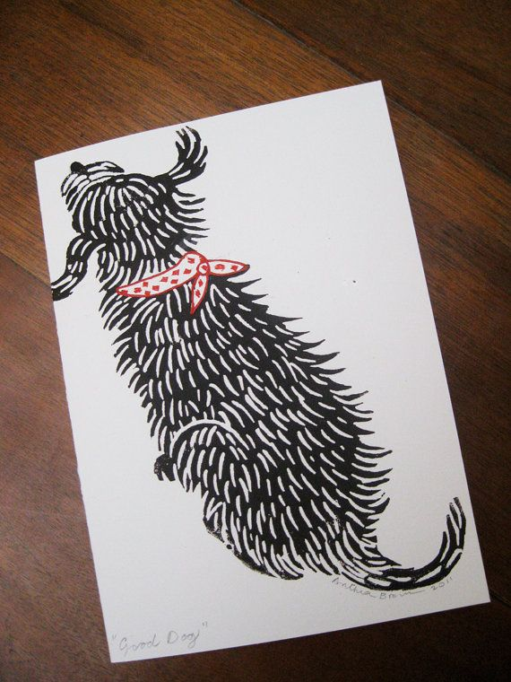 20 Best Images About Dog Lino Print Ideas On Pinterest