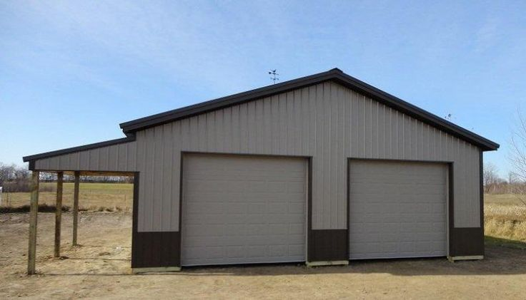 POLE BARN GARAGE WITH LEAN Lean To Pictures Building