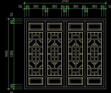 Chinese Window Lattice Autocad Drawings Cad Blocks And
