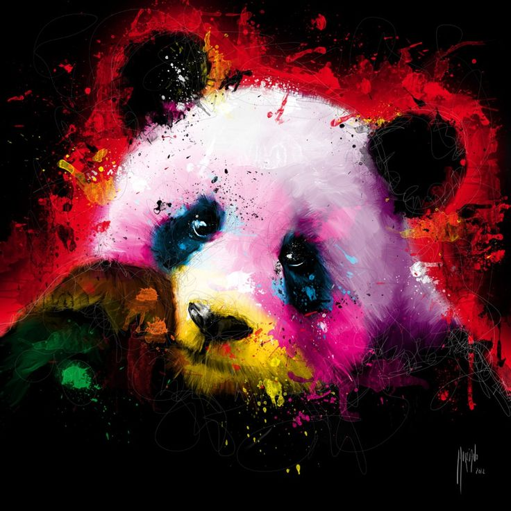 Panda Pop By Patrice Murciano Acrylic And Ink On Canvas