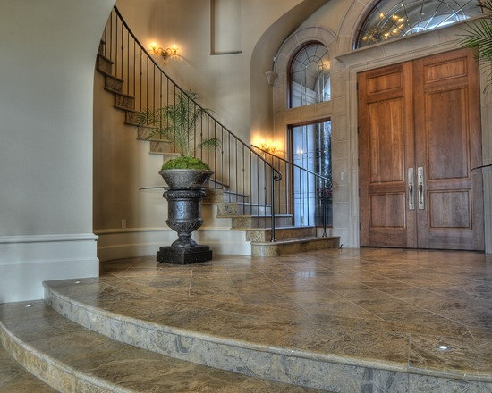 Mediterranean Entry Stairs Design Pictures Remodel