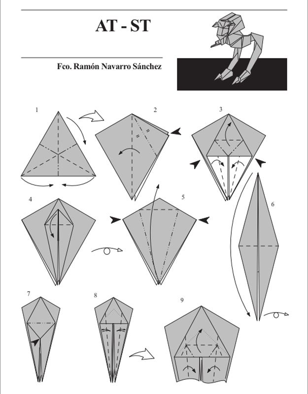 Some Star Wars origami for your spare time. #geek