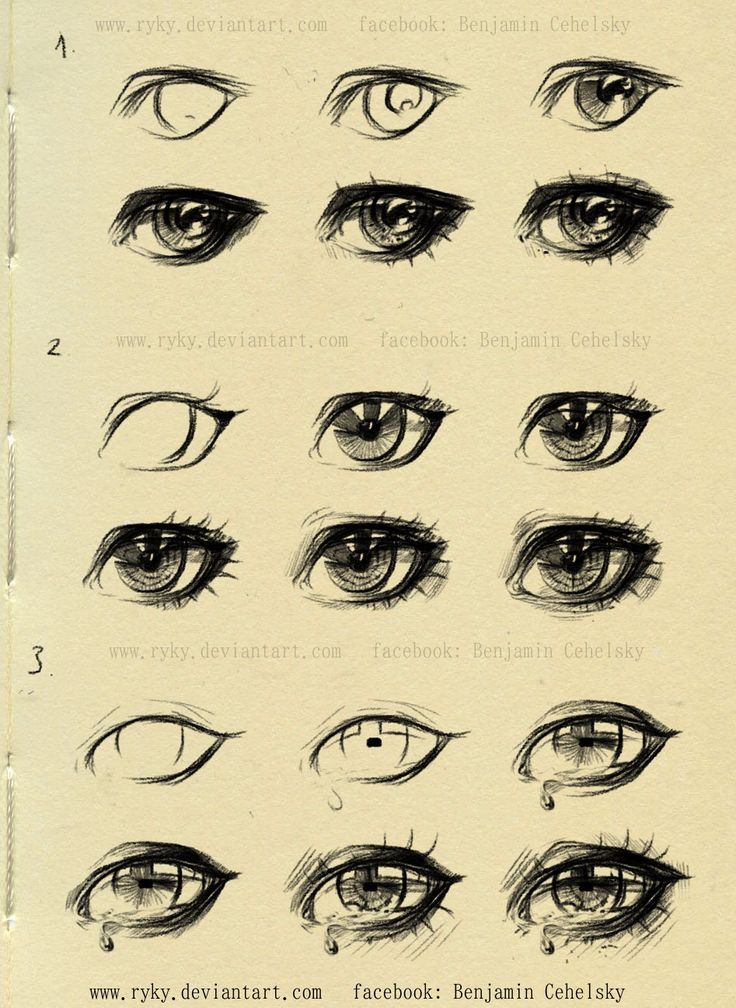 eyes step by step reference by ryky drawing illustration