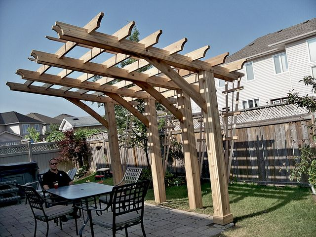 Cantilever Pergola Useful Design To Build Over An