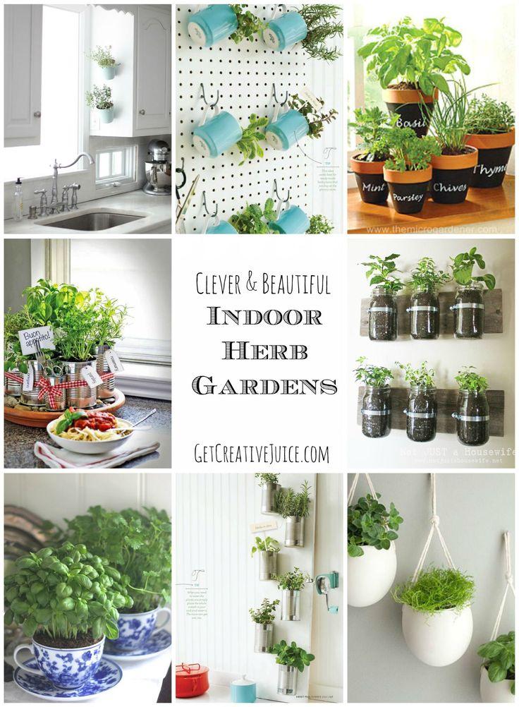 Indoor Herb Garden Ideas creative, beautiful, and easy