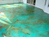13 Best Images About Blue Amp Green Stained Concrete Floors