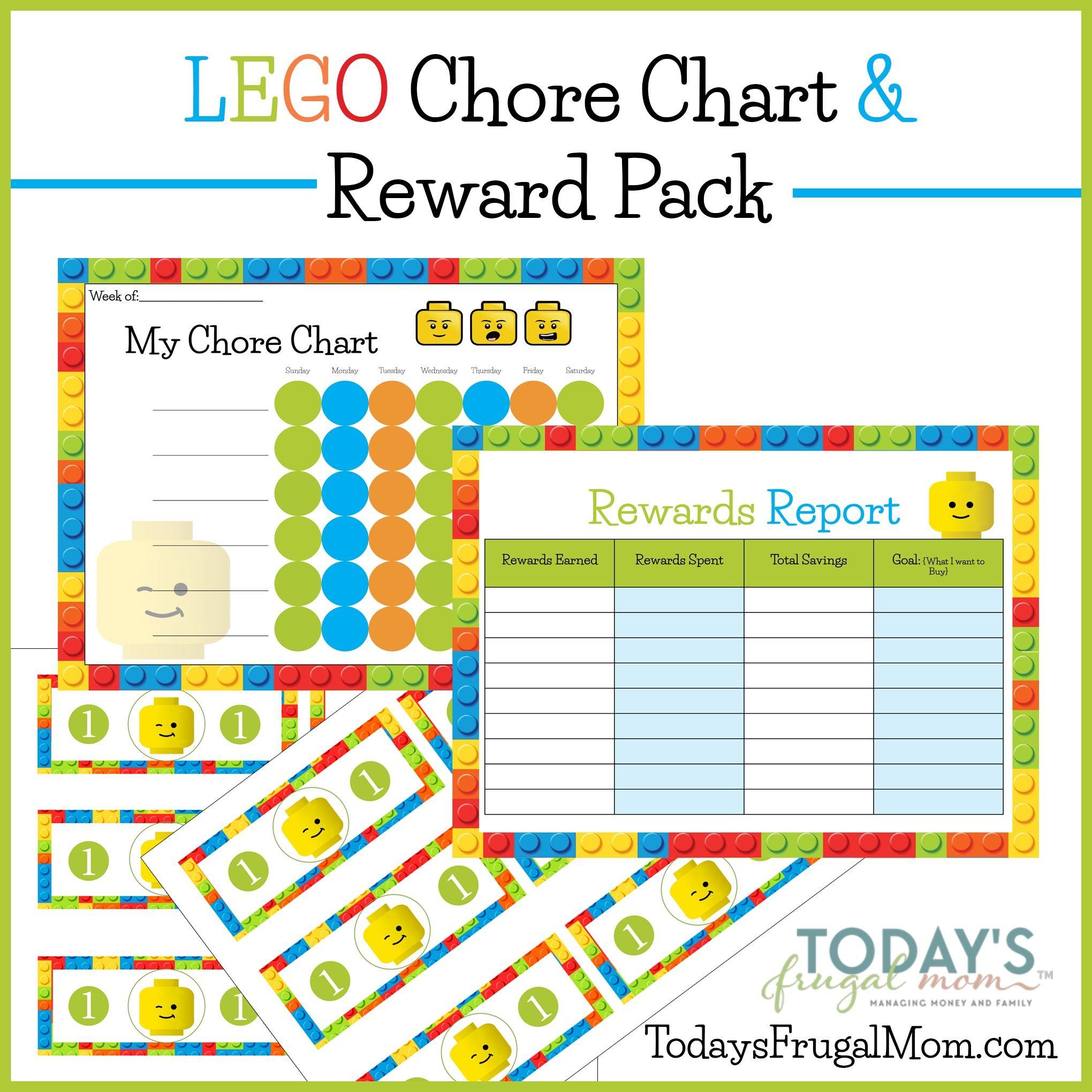 Free Lego Chore Chart Amp Reward Pack