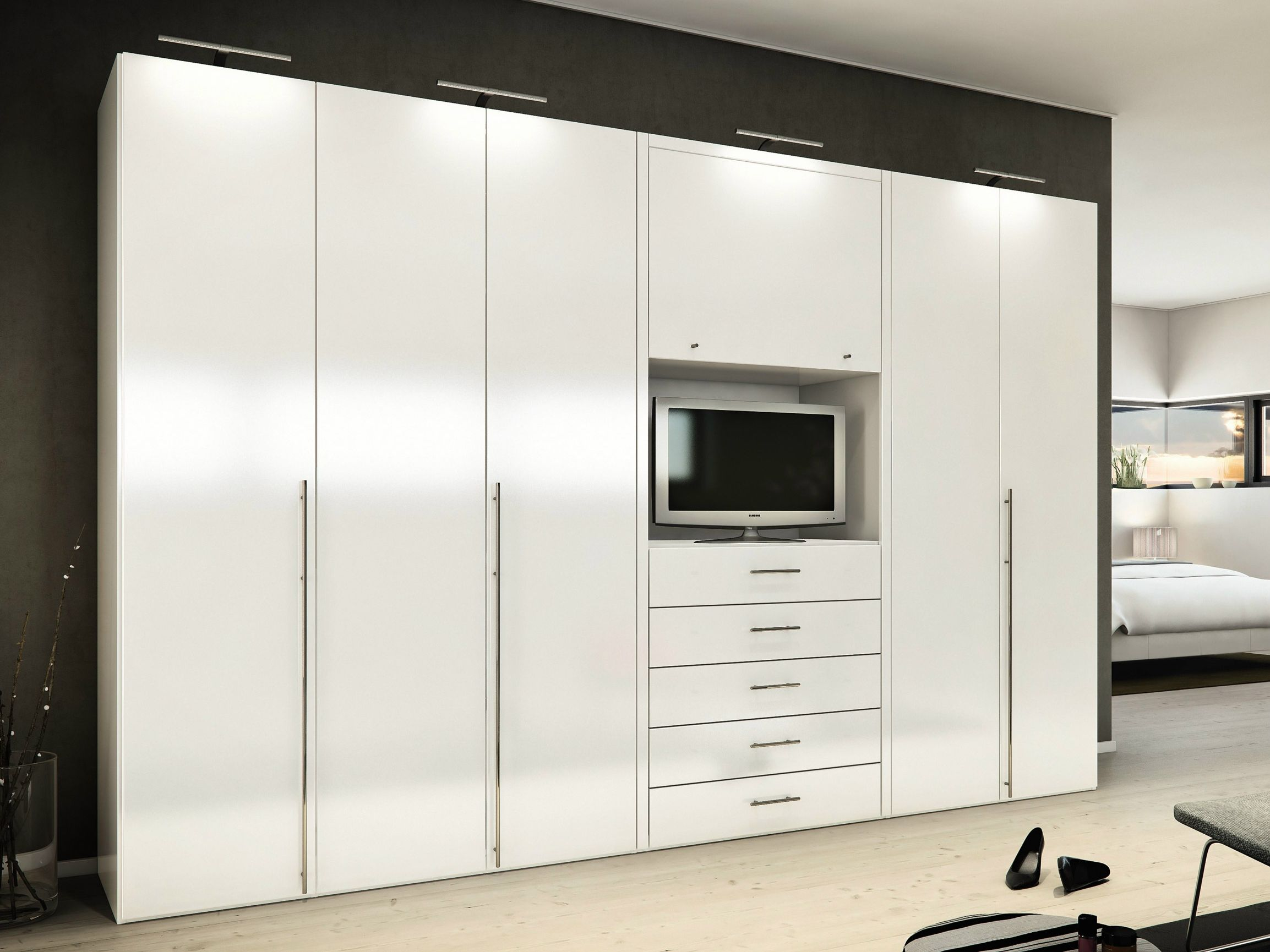 wardrobe closet with space google search bedroom decorating