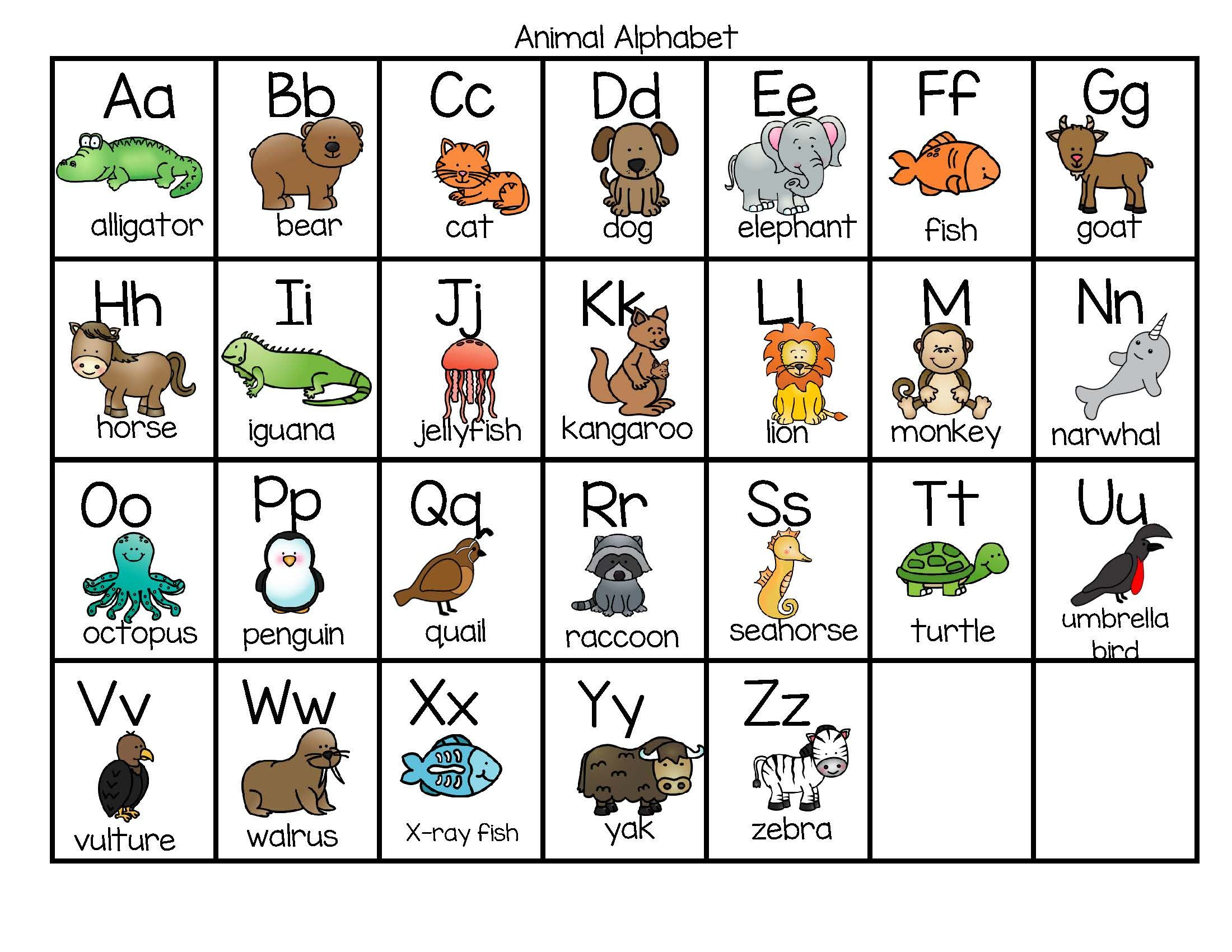 Free This Is A Full Page Chart Of Alphabet Letters