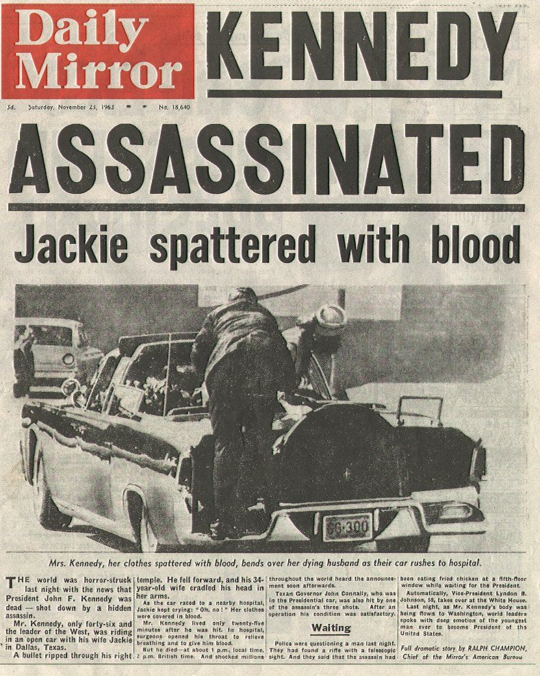 What Newspapers Looked Like The Day Kennedy Was Shot