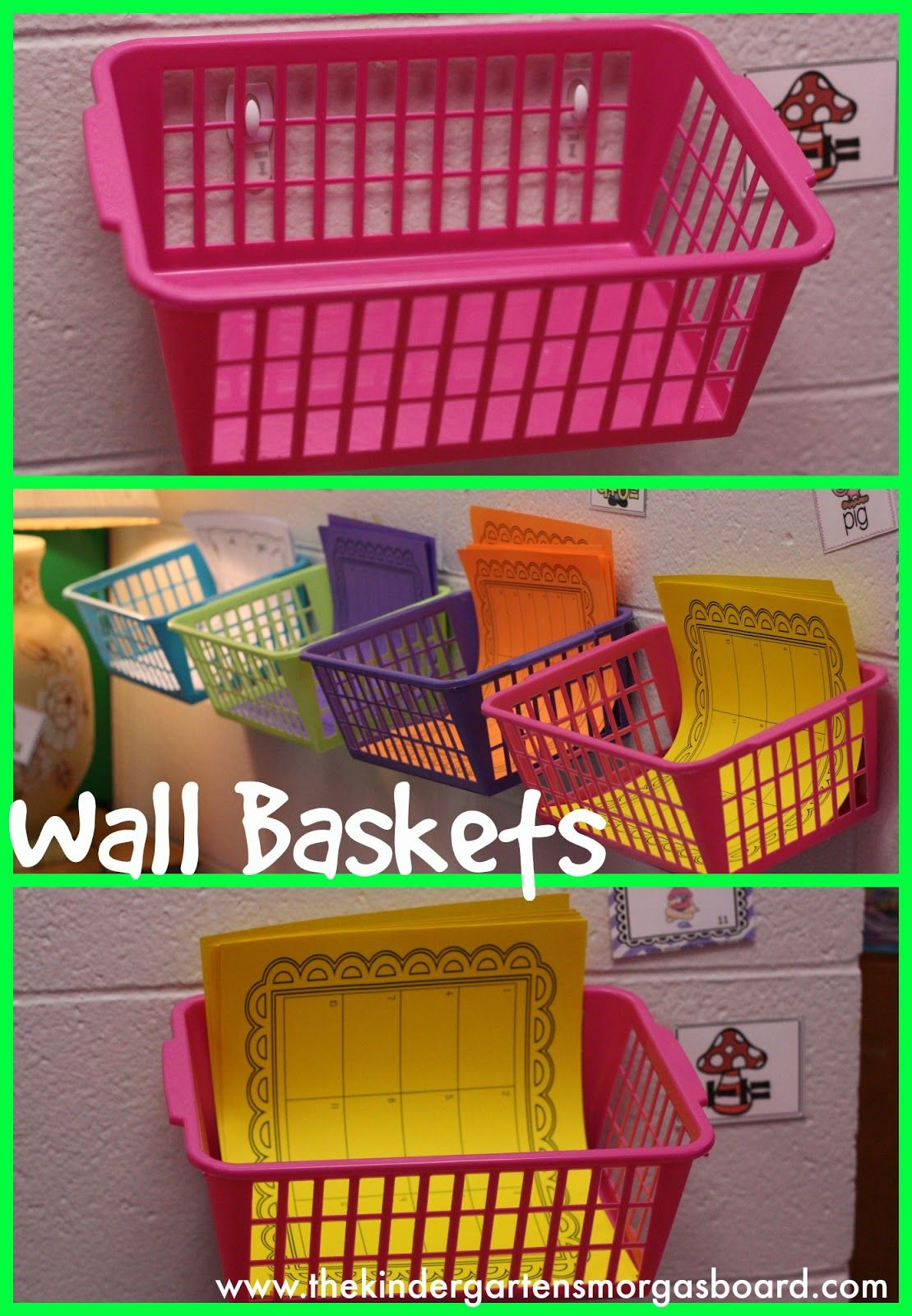 Use Command Hooks To Attach Baskets To The Walls Of Your Classroom Instant Storage Solution
