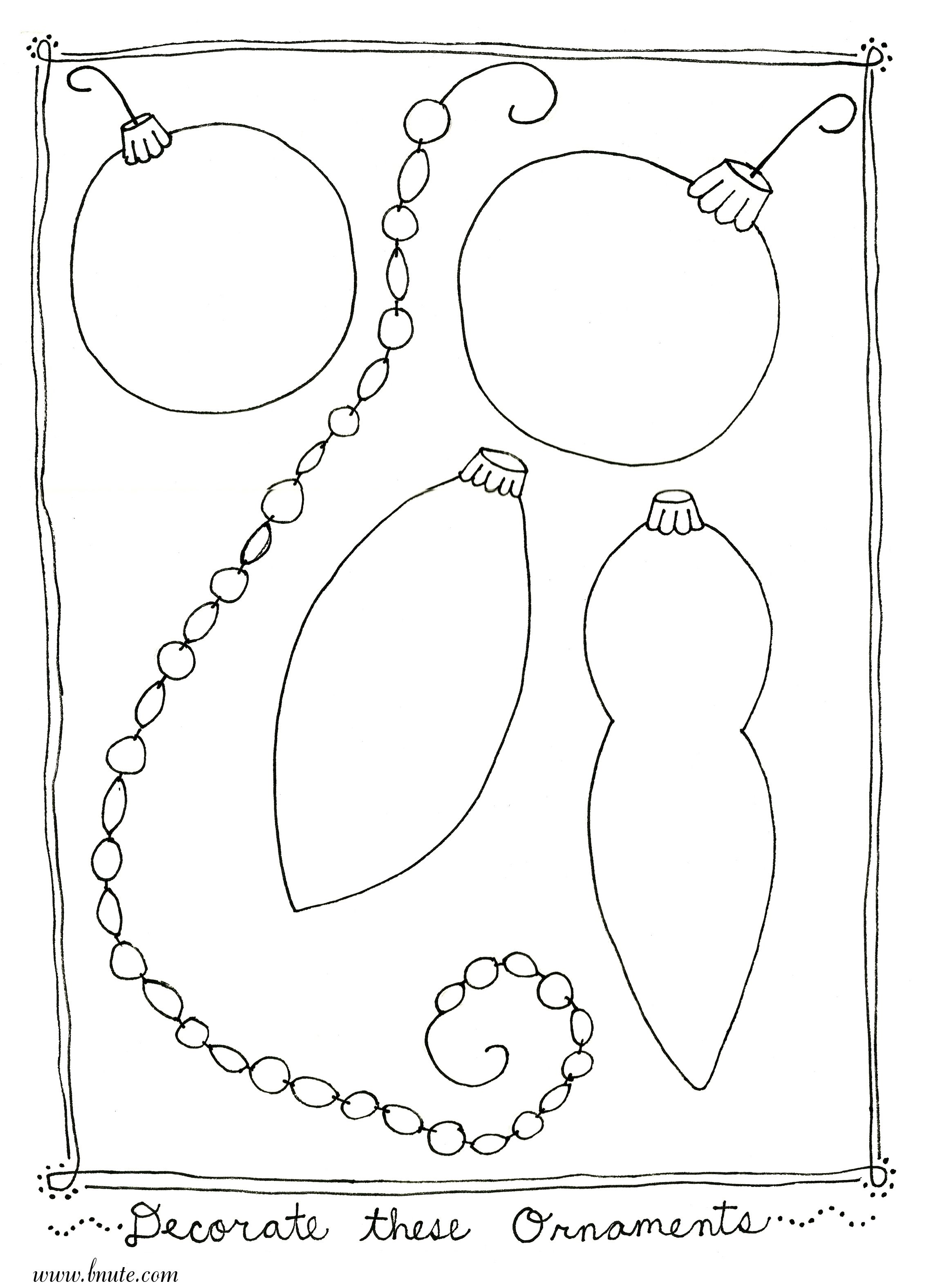 Christmas Ornament Coloring Pages More Christmas