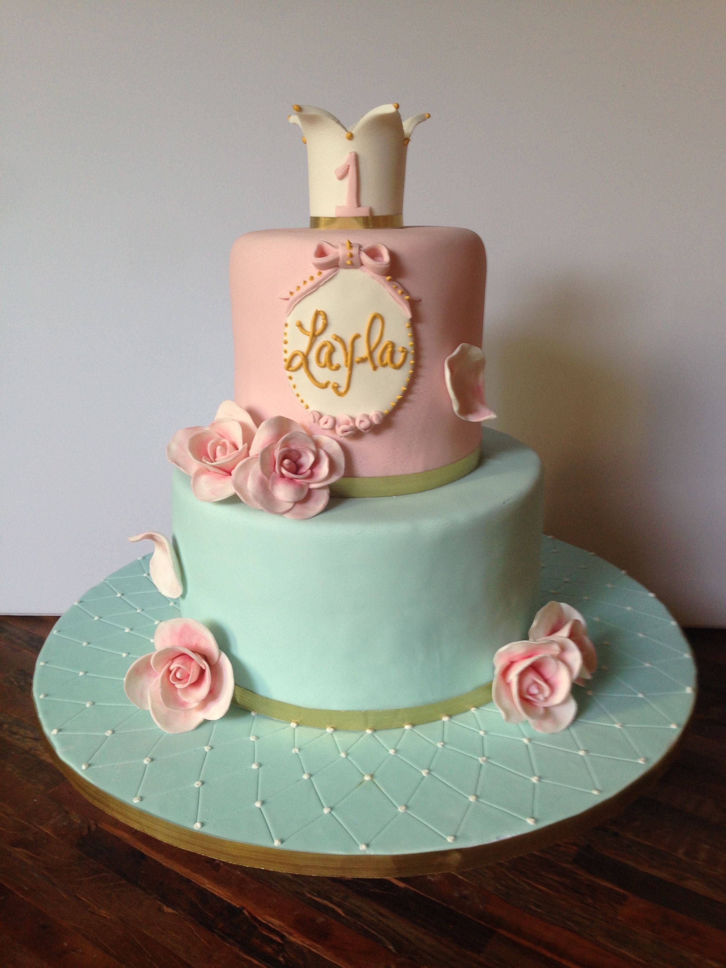 Shabby Chic Themed Birthday Cake For A Very Special Little
