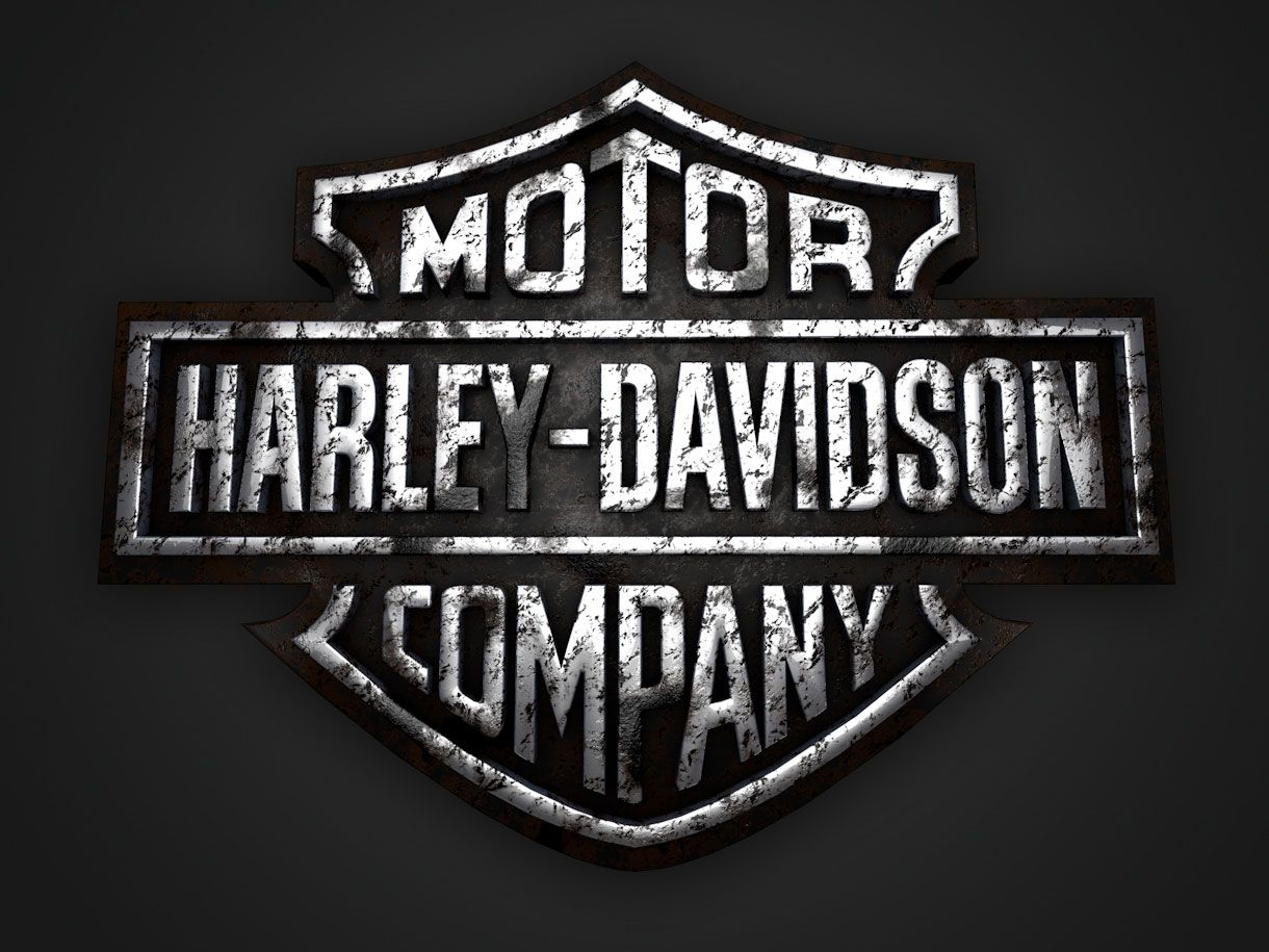 We have always been a big fan of Harley Davidson logo. The