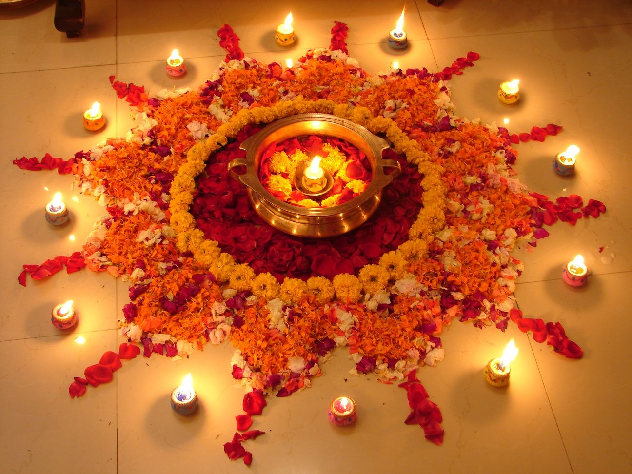 Rangoli Designs with Flowers for Diwali 2000+ Rangoli