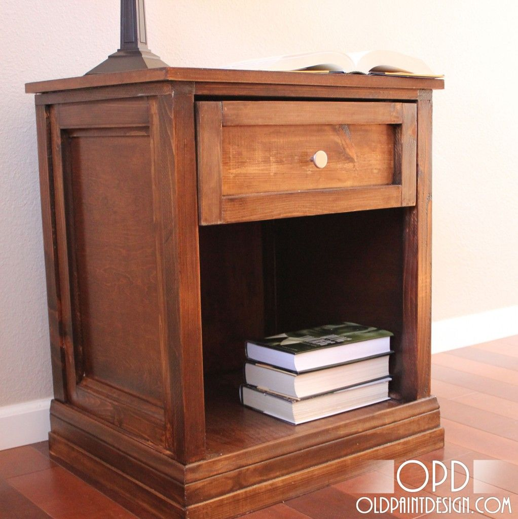 Make your own bedside table with detailed step by step