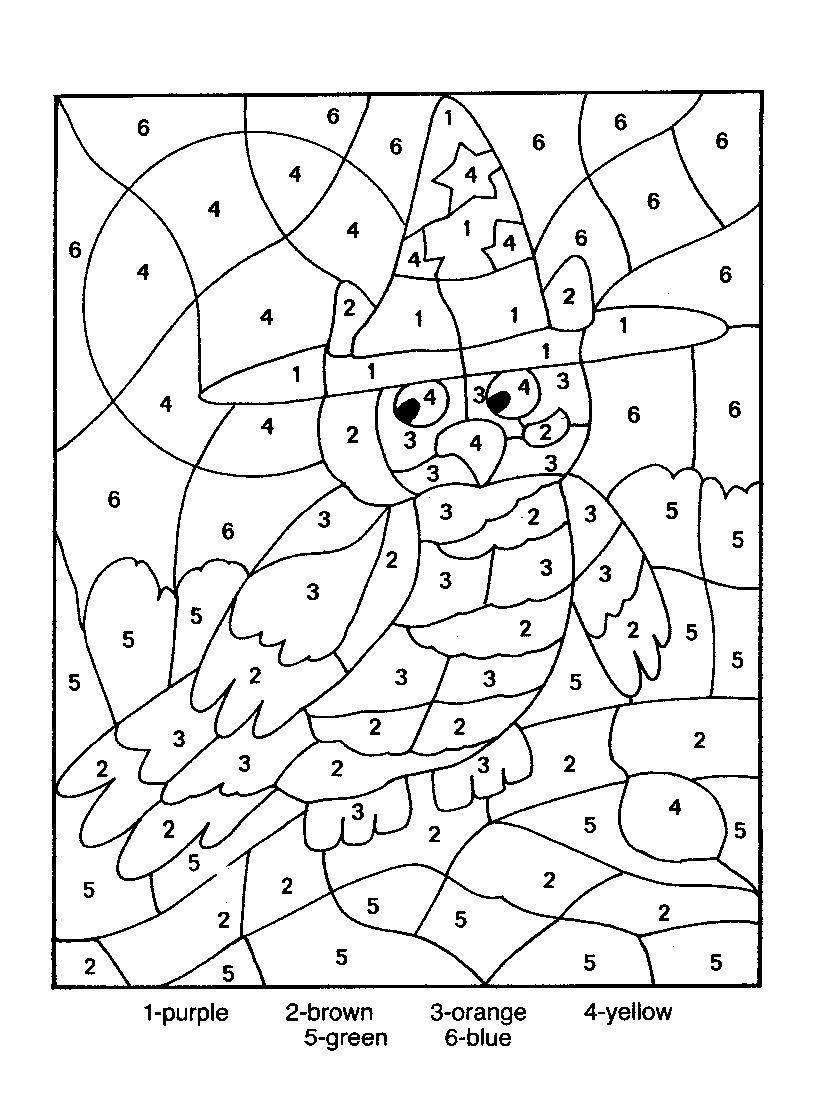 color by number coloring pages druntk