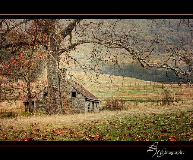 Shenandoah Valley abandoned cabin Stone cabin