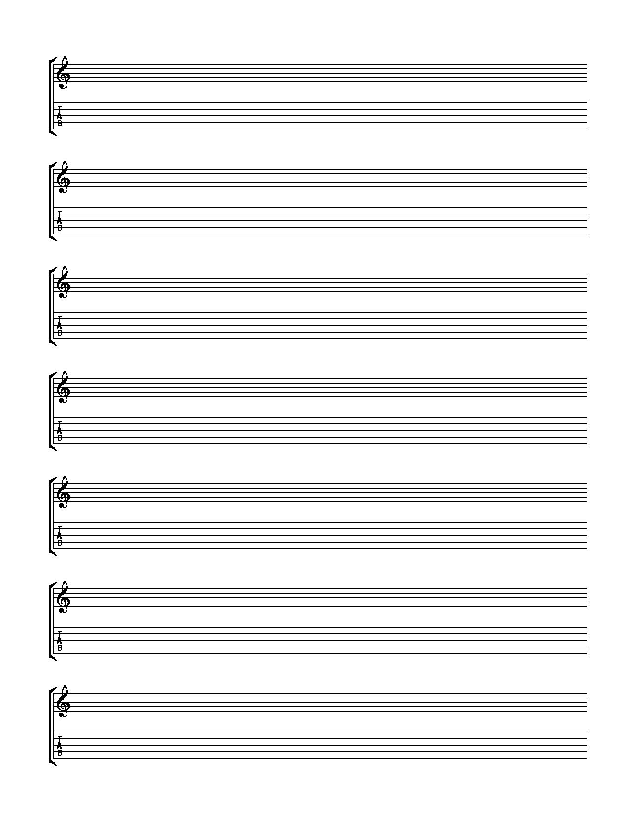 print out for blank banjo tab and notation Help With