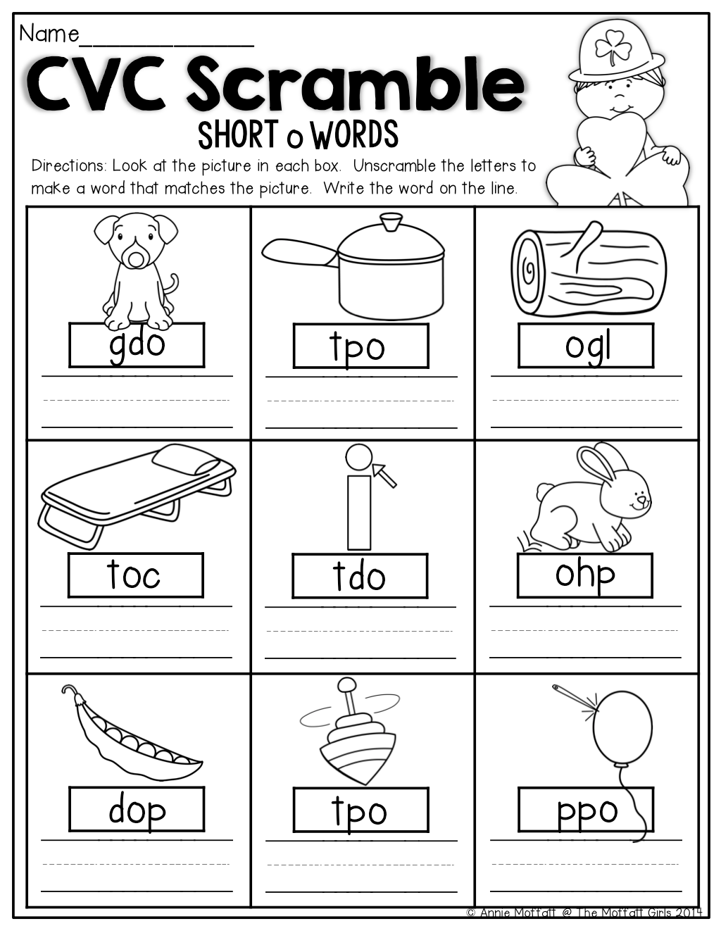 Easter Preschool Worksheet Sight Words