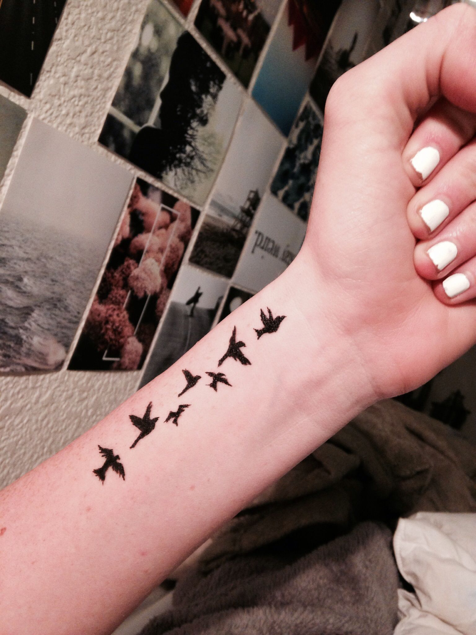 Birds tattoo wrist tattoo typical girl tat Tattoo