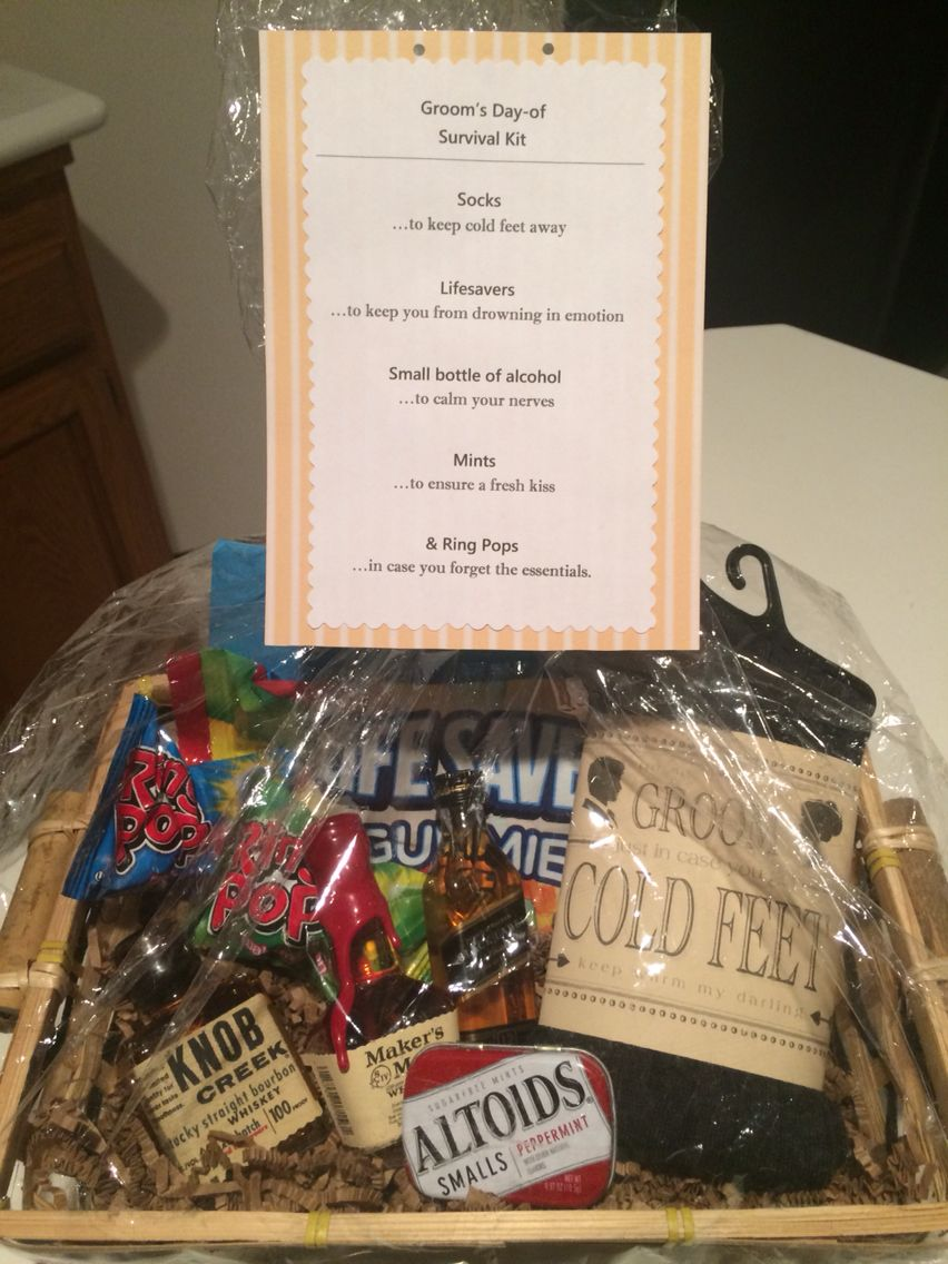 Grooms Dayof Survival Kit (personalized gift from bride