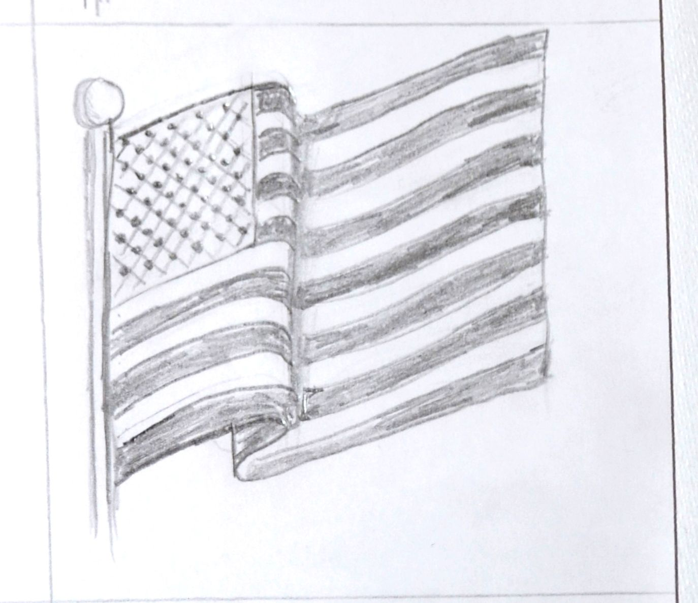 waving american flag drawing Google Search Draw This
