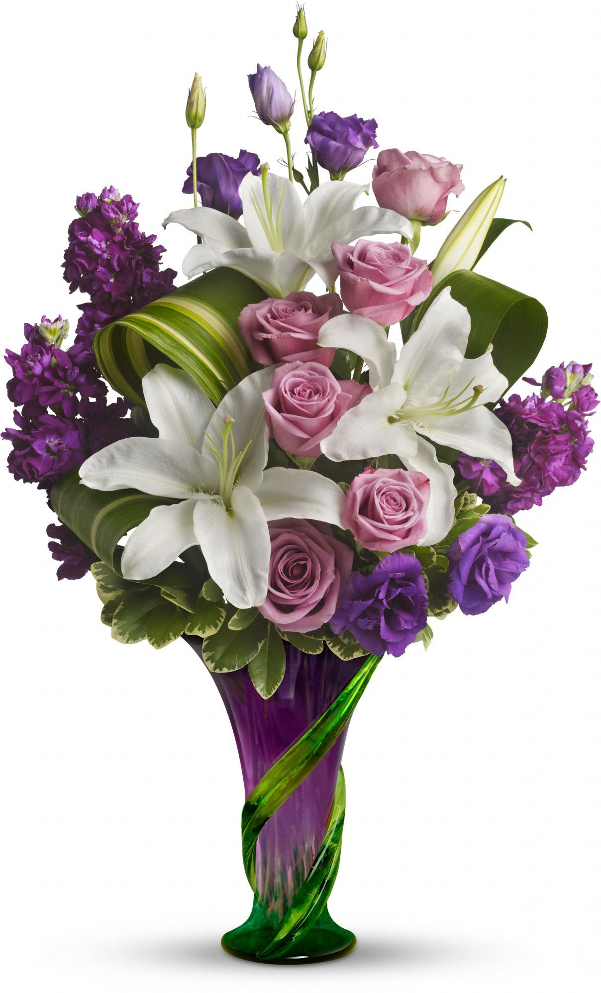 Teleflora's Indulge Her Bouquet Lavender Roses Save 25
