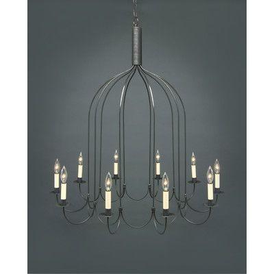 Northeast Lantern Chandelier 10 Light Candelabra Sockets J Arms Hanging Wayfair 1 667 00