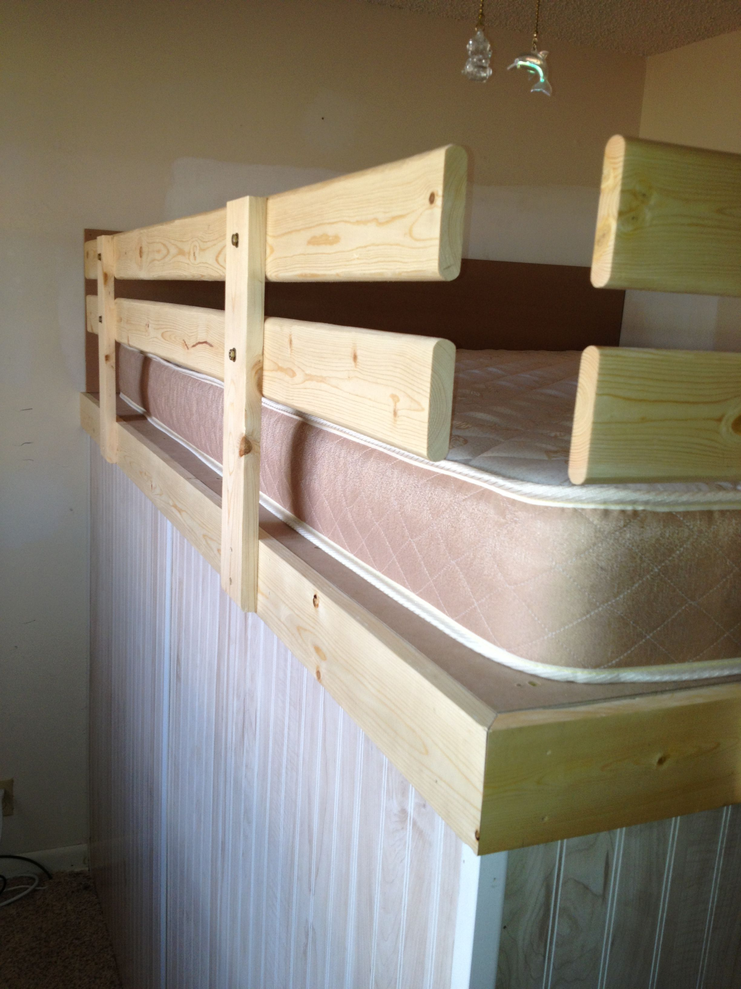 Safety rails for loft bed grodconstruction diy Grod