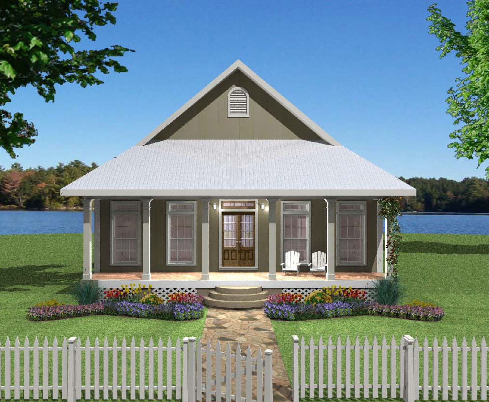 Small Plan, Big Heart 2568DH Cottage, Country