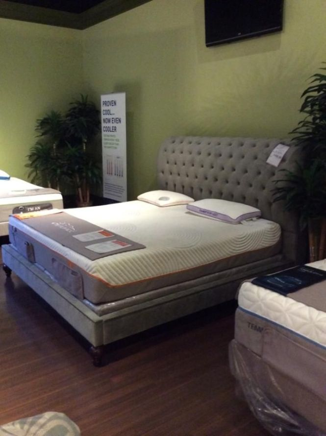 The Tempur Pedic Showroom At Gallery Furniture S Post Oak Location Looks Pristine Come Try Out Your Choice Of Mattress Today Houston Tx Gall