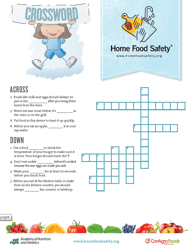 Food Safety Crossword [Game] Home Food Safety
