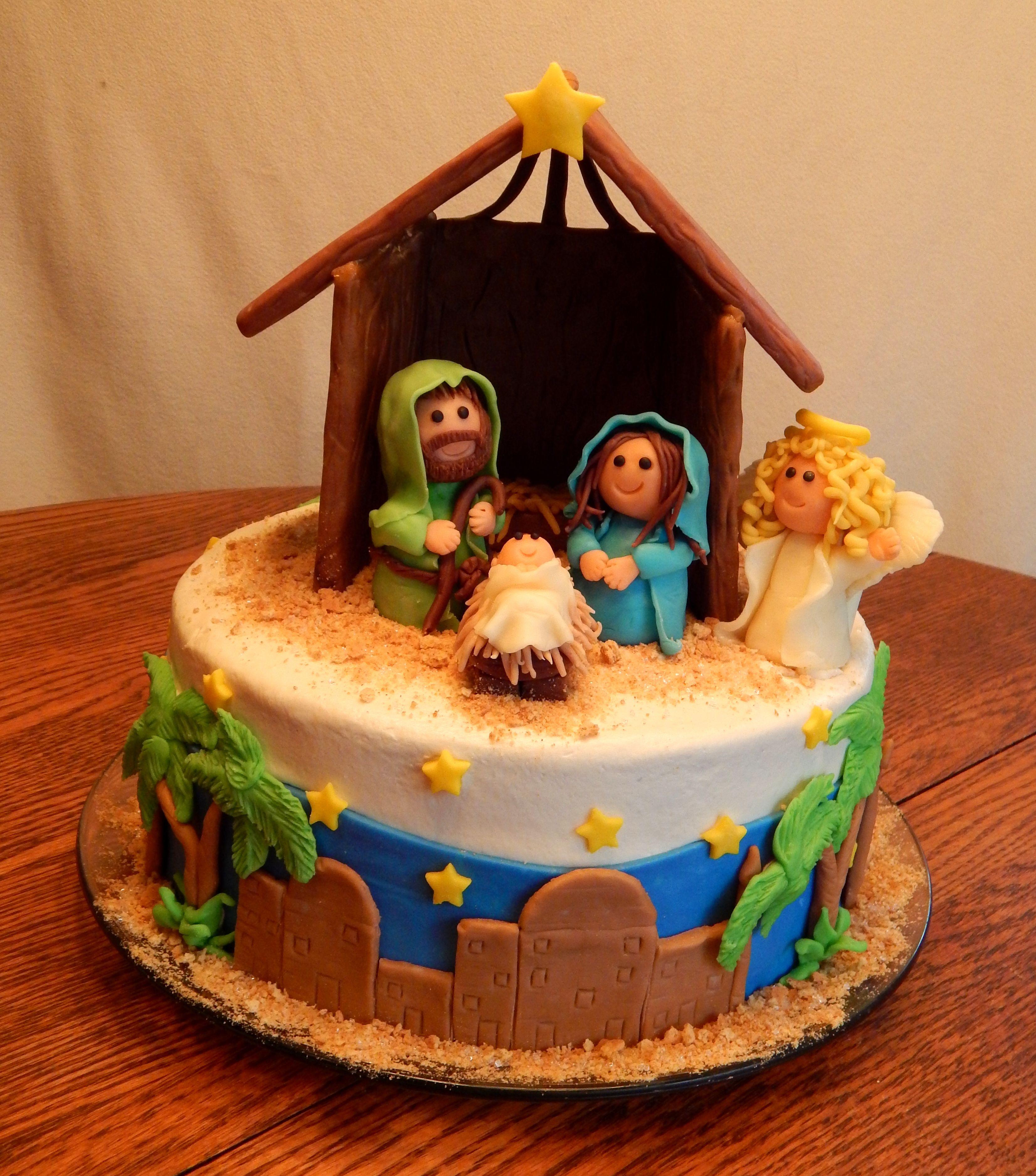 Happy Birthday Jesus!! A 10 inch round 2 layer cake with
